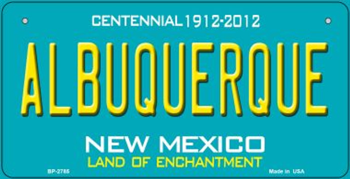 Albuquerque Teal New Mexico Novelty Metal Bicycle Plate BP-2785