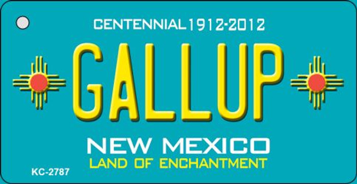 Gallup Teal New Mexico Novelty Metal Key Chain KC-2787