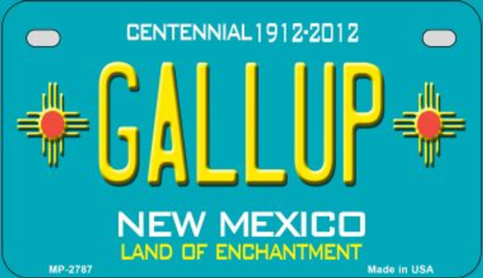 Gallup Teal New Mexico Novelty Metal Motorcycle Plate MP-2787