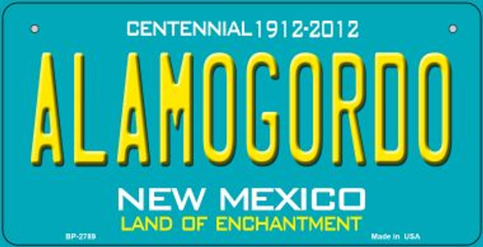 Alamogordo Teal New Mexico Novelty Metal Bicycle Plate BP-2789