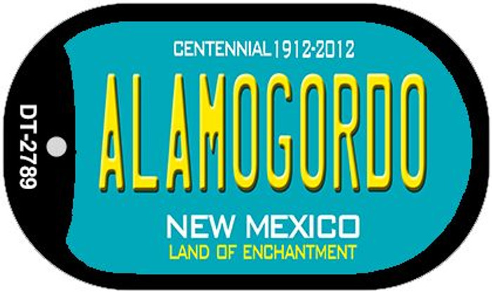 Alamogordo Teal New Mexico Novelty Metal Dog Tag Necklace DT-2789