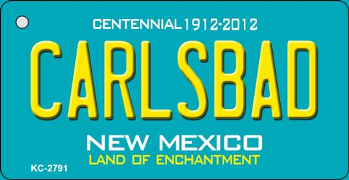 Carlsbad Teal New Mexico Novelty Metal Key Chain KC-2791
