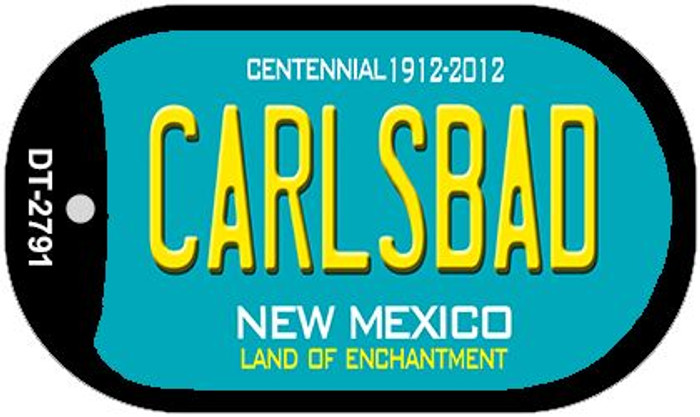 Carlsbad Teal New Mexico Novelty Metal Dog Tag Necklace DT-2791