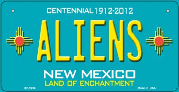Aliens Teal New Mexico Novelty Metal Bicycle Plate BP-2793