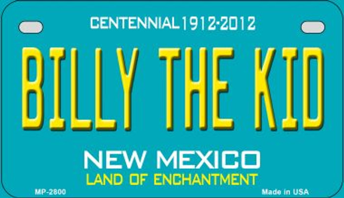 Billy The Kid Teal New Mexico Novelty Metal Motorcycle Plate MP-2800