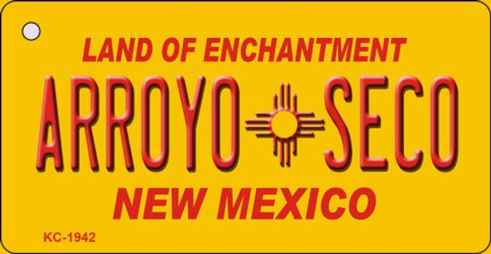 Arroyo Seco Yellow New Mexico Novelty Metal Key Chain KC-1942
