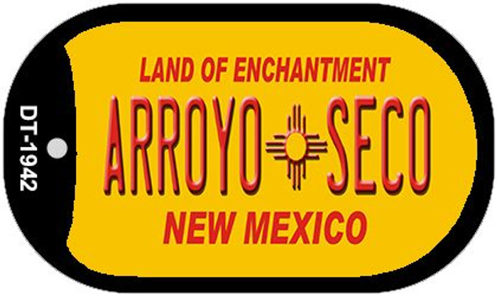 Arroyo Seco Yellow New Mexico Novelty Metal Dog Tag Necklace DT-1942