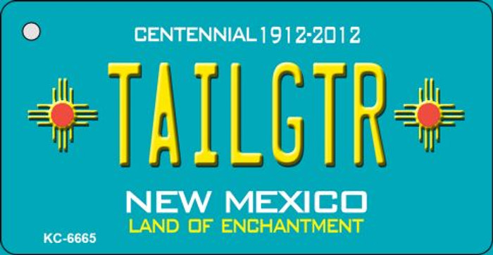 Tailgtr Teal New Mexico Novelty Metal Key Chain KC-6665