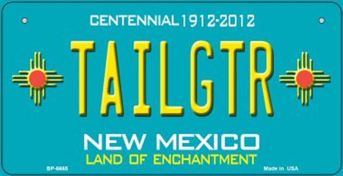 Tailgtr Teal New Mexico Novelty Metal Bicycle Plate BP-6665