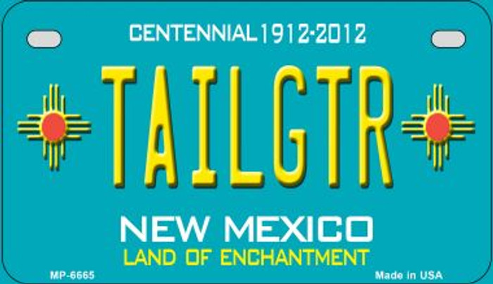 Tailgtr Teal New Mexico Novelty Metal Motorcycle Plate MP-6665