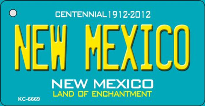 New Mexico Teal New Mexico Novelty Metal Key Chain KC-6669