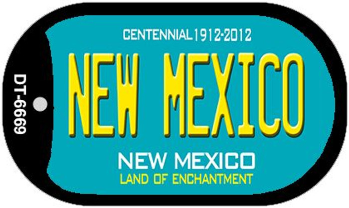 New Mexico Teal New Mexico Novelty Metal Dog Tag Necklace DT-6669