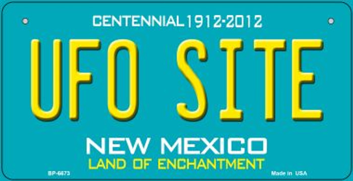 UFO Site Teal New Mexico Novelty Metal Bicycle Plate BP-6673