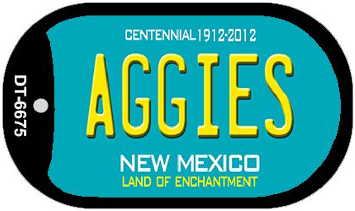 Aggies Teal New Mexico Novelty Metal Dog Tag Necklace DT-6675