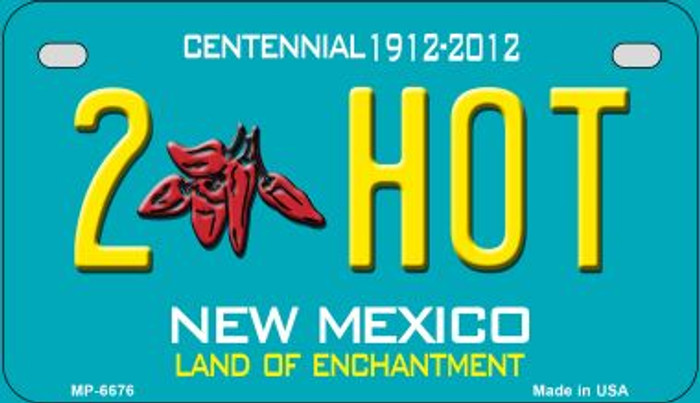 2 Hot Teal New Mexico Novelty Metal Motorcycle Plate MP-6676