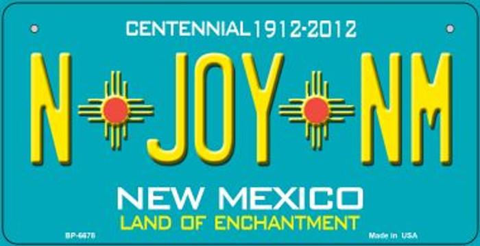 N Joy NM Teal New Mexico Novelty Metal Bicycle Plate BP-6678