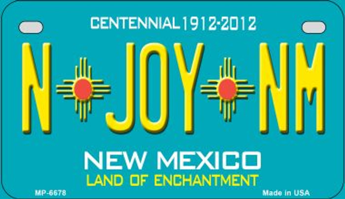 N Joy NM Teal New Mexico Novelty Metal Motorcycle Plate MP-6678