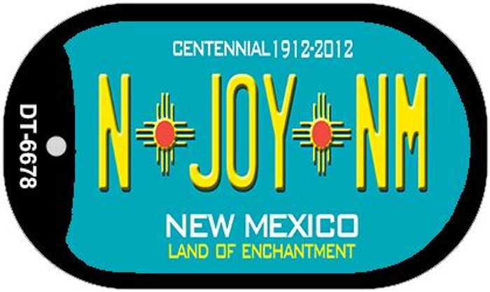 N Joy NM Teal New Mexico Novelty Metal Dog Tag Necklace DT-6678