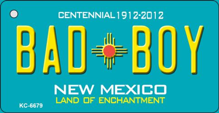 Bad Boy Teal New Mexico Novelty Metal Key Chain KC-6679