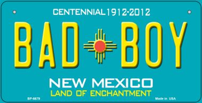 Bad Boy Teal New Mexico Novelty Metal Bicycle Plate BP-6679