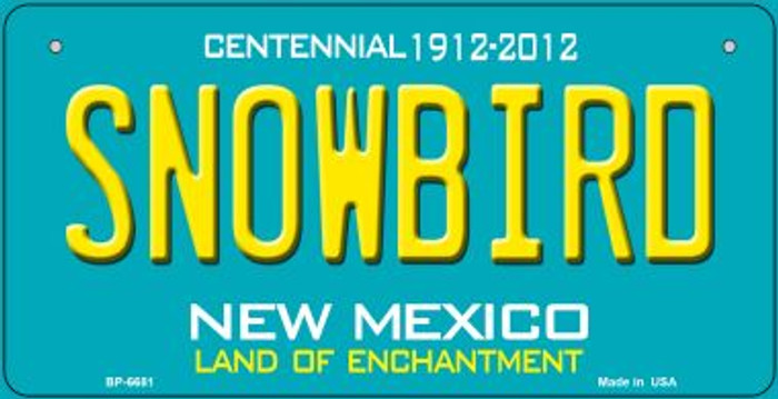 Snowbird Teal New Mexico Novelty Metal Bicycle Plate BP-6681