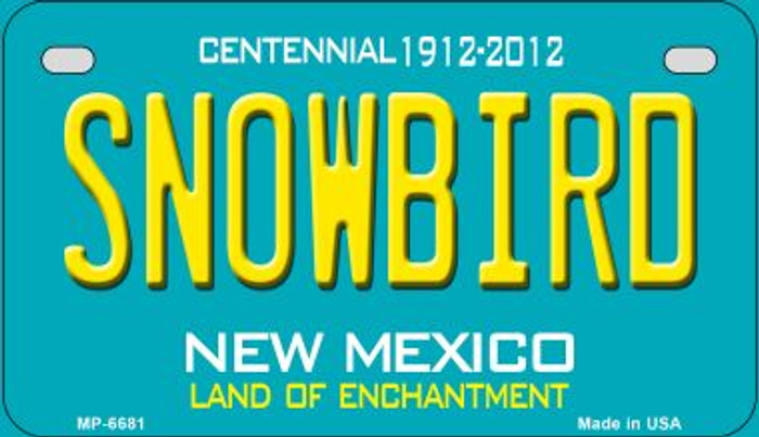 Snowbird Teal New Mexico Novelty Metal Motorcycle Plate MP-6681