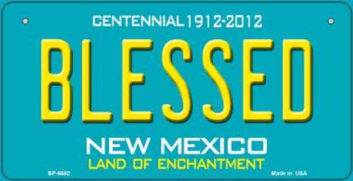 Blessed Teal New Mexico Novelty Metal Bicycle Plate BP-6682