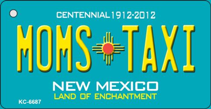Moms Taxi Teal New Mexico Novelty Metal Key Chain KC-6687