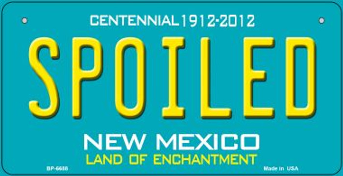 Spoiled Teal New Mexico Novelty Metal Bicycle Plate BP-6688