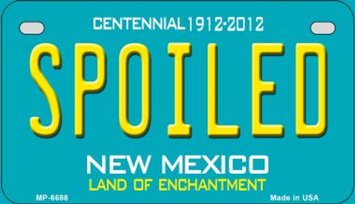 Spoiled Teal New Mexico Novelty Metal Motorcycle Plate MP-6688