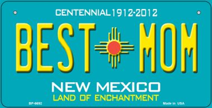 Best Mom Teal New Mexico Novelty Metal Bicycle Plate BP-6692
