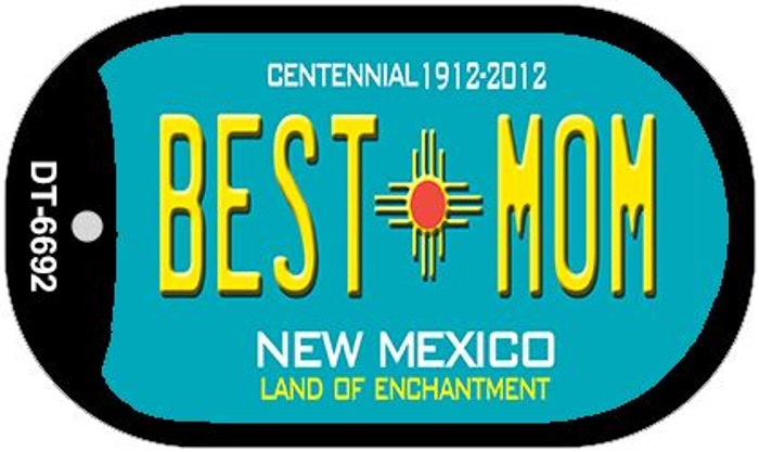 Best Mom Teal New Mexico Novelty Metal Dog Tag Necklace DT-6692