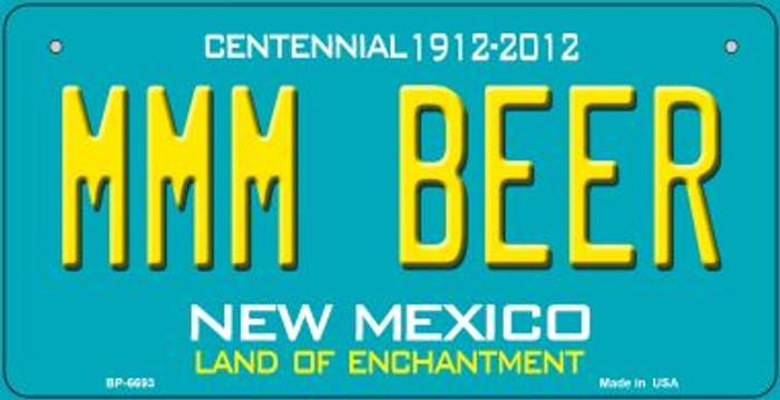 MMM Beer Teal New Mexico Novelty Metal Bicycle Plate BP-6693