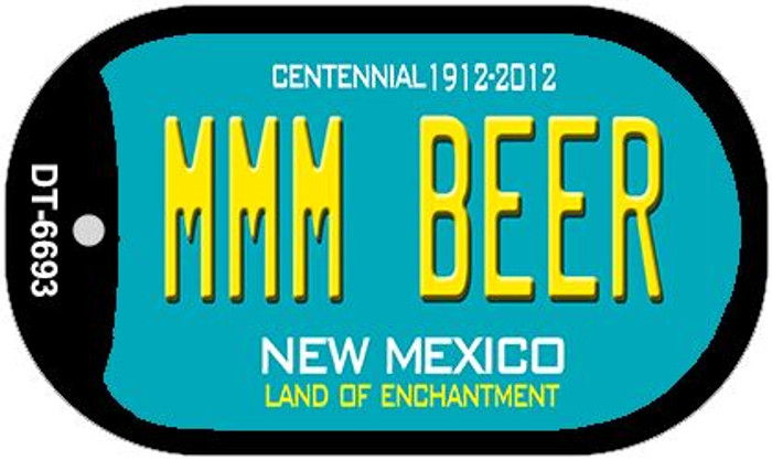 MMM Beer Teal New Mexico Novelty Metal Dog Tag Necklace DT-6693