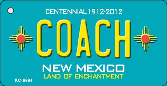 Coach Teal New Mexico Novelty Metal Key Chain KC-6694