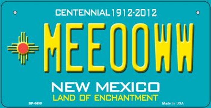 Meeooww Teal New Mexico Novelty Metal Bicycle Plate BP-6695