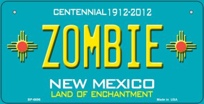 Zombie Teal New Mexico Novelty Metal Bicycle Plate BP-6696