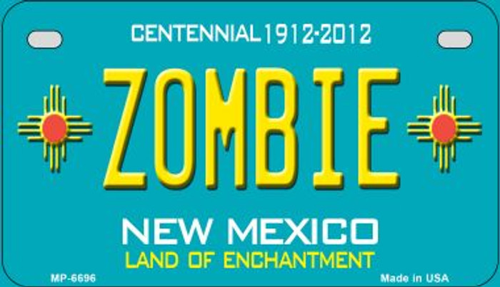 Zombie Teal New Mexico Novelty Metal Motorcycle Plate MP-6696