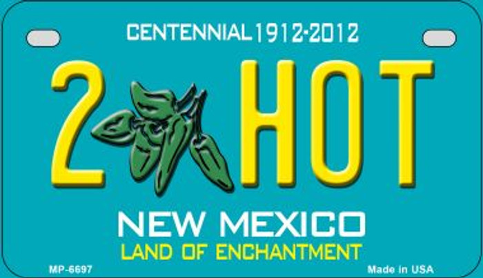 2 Hot Teal New Mexico Novelty Metal Motorcycle Plate MP-6697