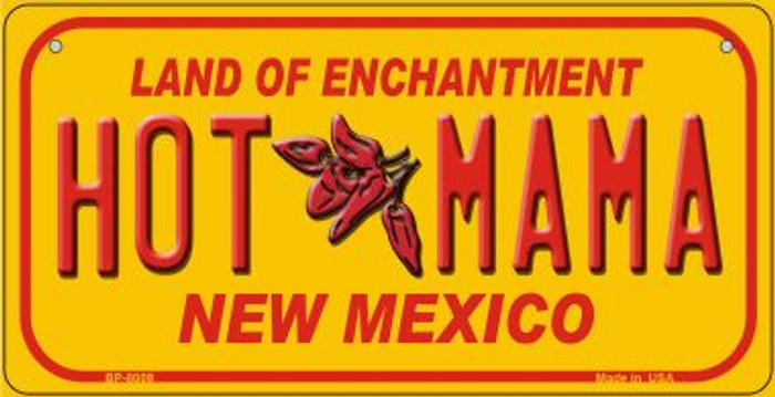 Hot Mama Yellow New Mexico Novelty Metal Bicycle Plate BP-8009