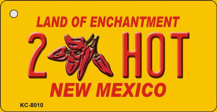 2 Hot Yellow New Mexico Novelty Metal Key Chain KC-8010