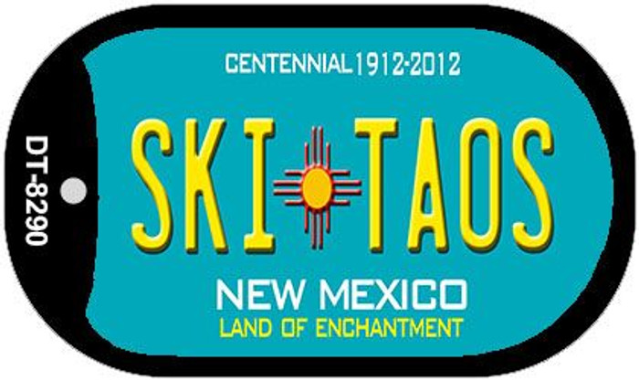 Ski Taos Teal New Mexico Novelty Metal Dog Tag Necklace DT-8290