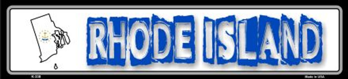 Rhode Island State Outline Novelty Metal Vanity Small Street Sign