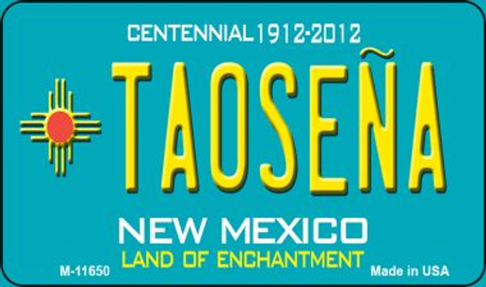 Taosena Teal New Mexico Novelty Metal Magnet M-11650
