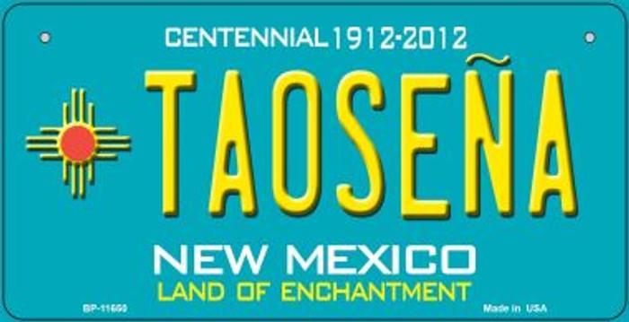 Taosena Teal New Mexico Novelty Metal Bicycle Plate BP-11650