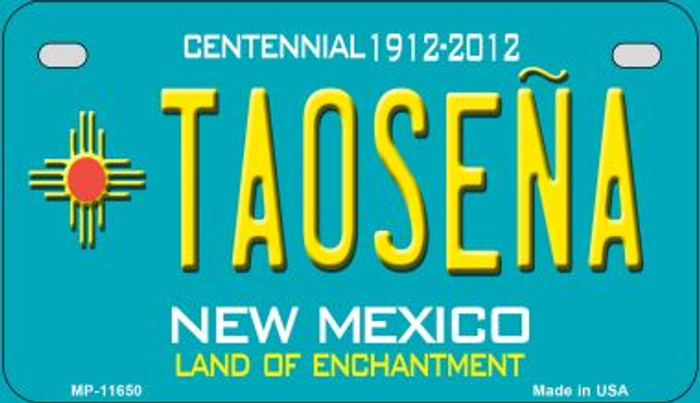 Taosena Teal New Mexico Novelty Metal Motorcycle Plate MP-11650