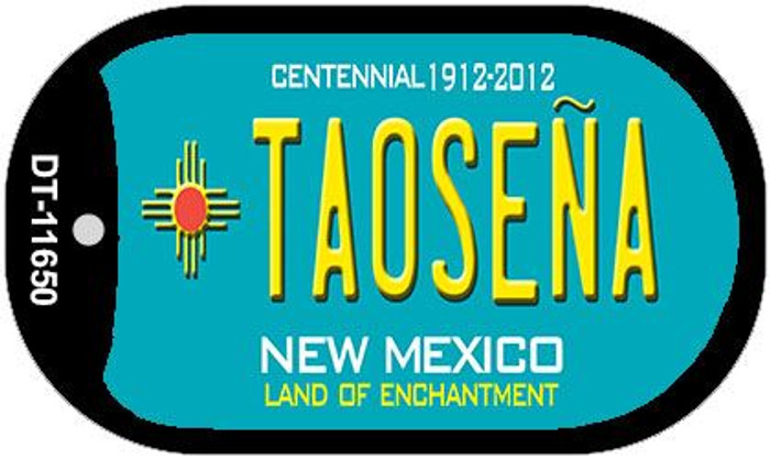 Taosena Teal New Mexico Novelty Metal Dog Tag Necklace DT-11650