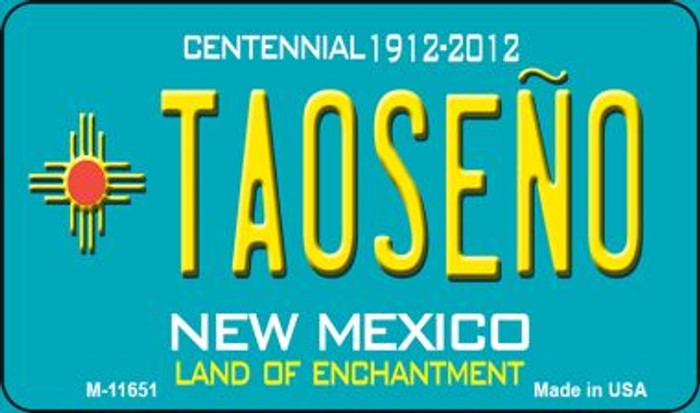 Taoseno Teal New Mexico Novelty Metal Magnet M-11651