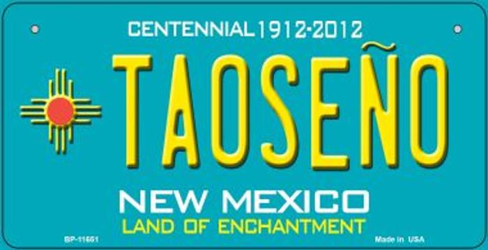 Taoseno Teal New Mexico Novelty Metal Bicycle Plate BP-11651