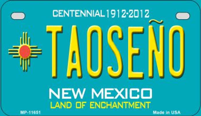 Taoseno Teal New Mexico Novelty Metal Motorcycle Plate MP-11651